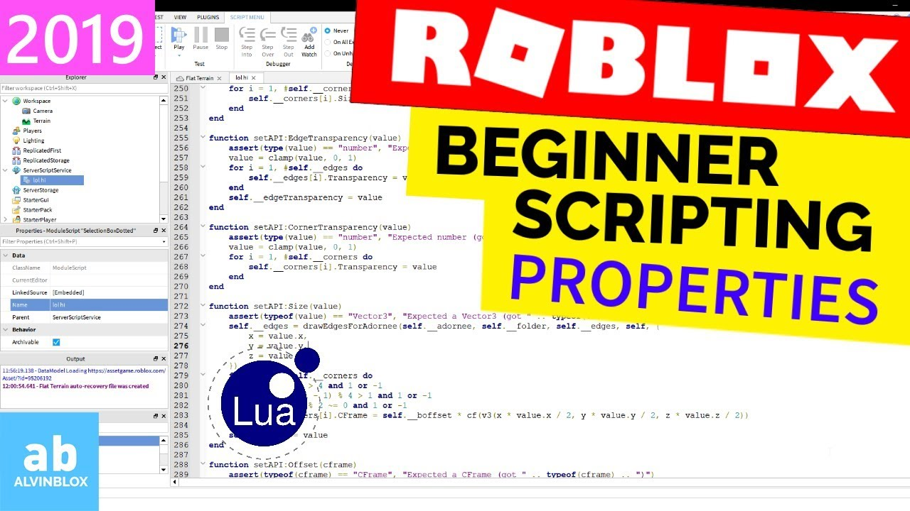 How To Script On Roblox For Beginners – Part 1 (2019 Edition)