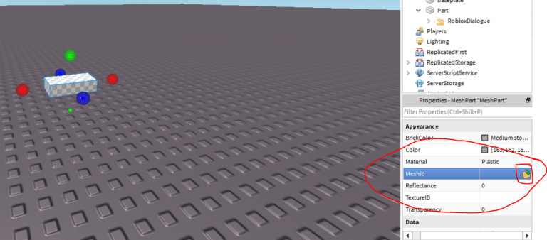 ROBLOX 3D Model with Mesh