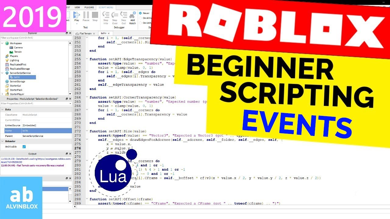 How To Script Events On Roblox