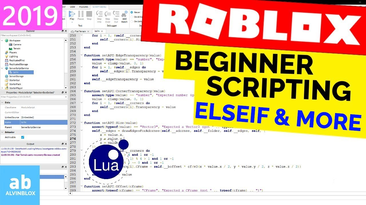 Elseif & Embedded If Statements ROBLOX Scripting