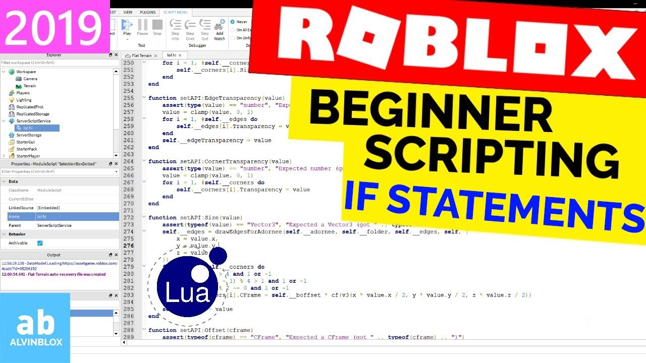 If Statements – Roblox Scripting – If, Then, Else