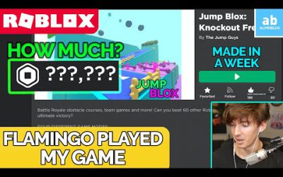 I made a ROBLOX GAME in 7 DAYS and FLAMINGO played it…