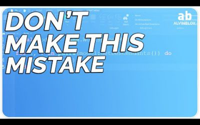 The BIGGEST MISTAKE people make when learning to script