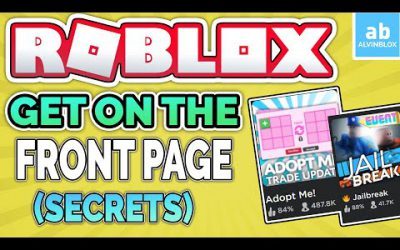 How to get FRONT PAGE on Roblox