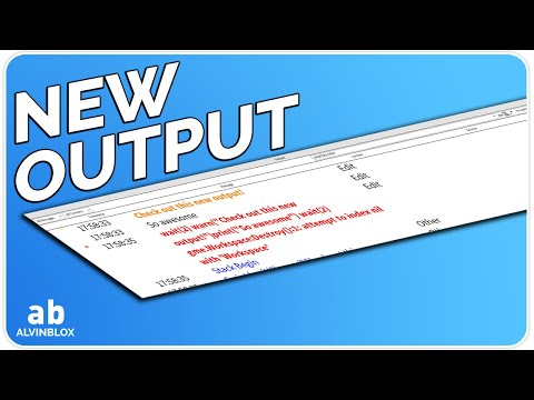 New Output in Roblox Studio! (New Features)
