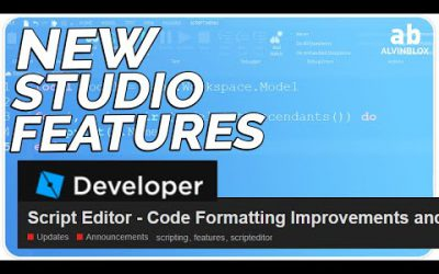 NEW ROBLOX STUDIO FEATURES – Roblox Script Editor Improvements